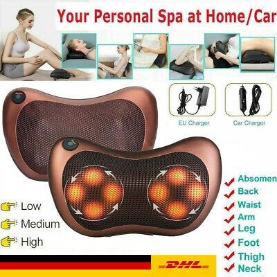 Shiatsu Massagekissen schulterMassagegerät Rücken/Nacken Wärmefunktion Auto/Haus