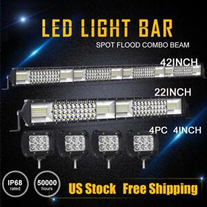 42Inch LED Work Light Bar 4Row Combo + 22in + 4X 4