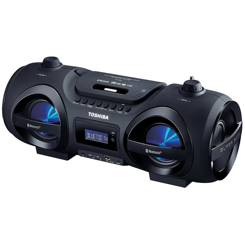 Toshiba 25W Portable Bluetooth Boombox w/ CD Player & USB/SD Card Input