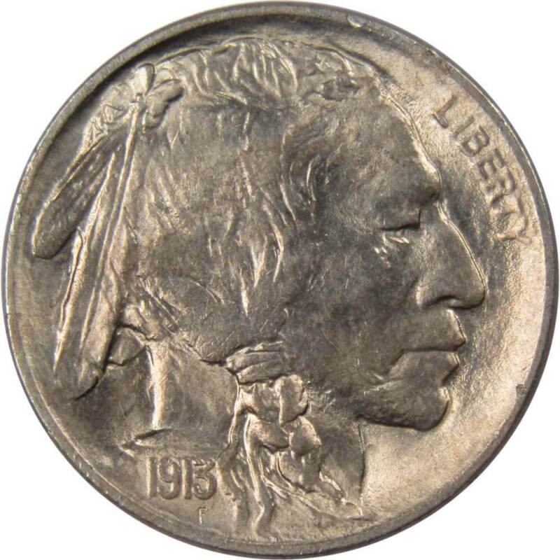 1913 Type 1 5c Indian Head Buffalo Nickel US Coin Borderline Uncirculated