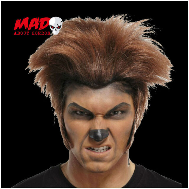 SCARY! Brown Werewolf Wig for Mens Halloween Horror Film Wolf Costume/Mask
