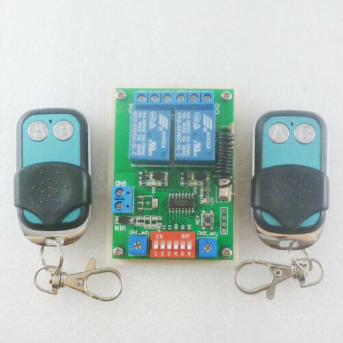 DC 5V 433mHz 2 Channel RF ASK OOK Wireless Link Delay Relay Remote Controller