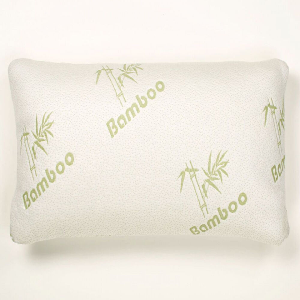Memory Foam Pillow With Bonus Bamboo Cover Ideal Support For