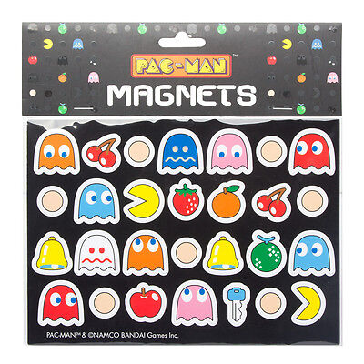 NEW PAC MAN 28 PIECE MAGNET SET GHOSTS NAMCO ARCADE GAME CHERRY LEMON PILLS GIFT