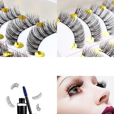 10 Pairs Handmade Makeup Natural Fashion Long Thick False Eyelashes Eye Lashes