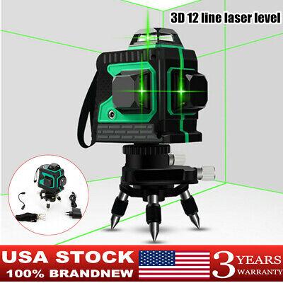 3d 12 Lines Laser Levels Self-leveling 360 Horizontal Vertical Cross Measure