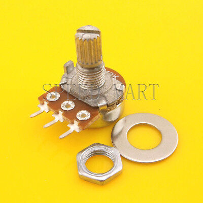 B20K Ohm Linear Taper Rotary Potentiometer Pot 20mm Shaft 3 Pins for sale  China