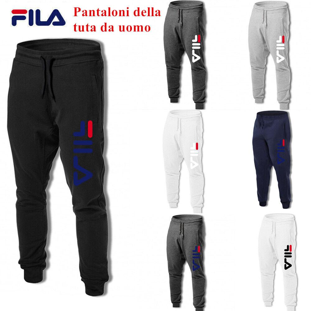 FILA Pantaloni della tuta da uomo velluto Pantaloni da fitness pantaloni IT