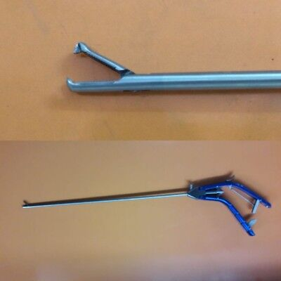Laparoscopic Needle Holder 12 Tooth Jaw Gun Type 10mm Laparoscopy Instruments