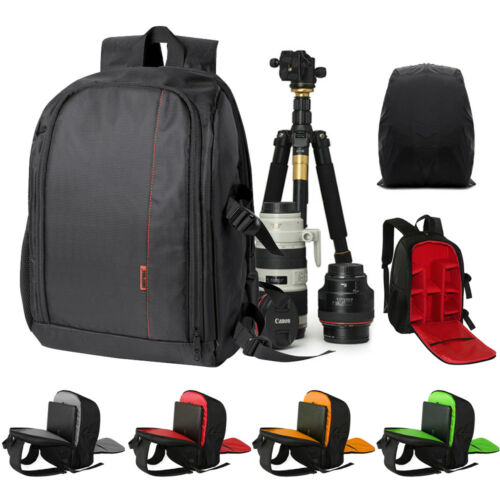 Large DSLR Camera Case Backpack Bag DIY Compartment For Canon Nikon Waterproof