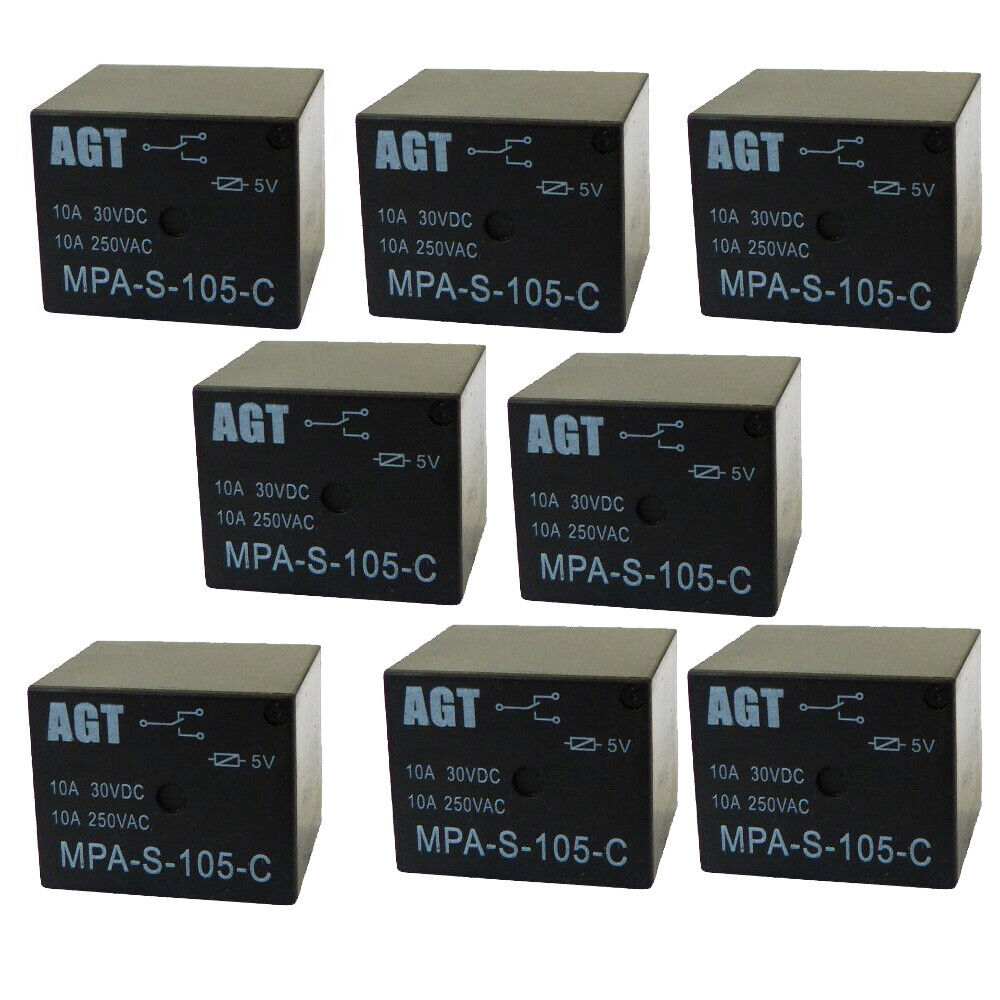 PCB 24V DC SPDT Small Relay Contact Rating:240V AC 10A// 30V DC 8A G5LE-1