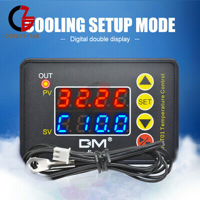 Ac 220v Micro- Computer Digital Dual Thermostat Temperature Controller Switch