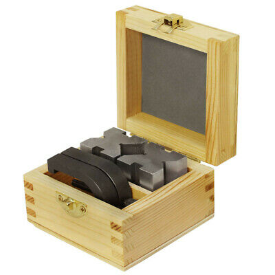 V-block And Clamp Set Hardened Steel 90 Degree Angle 1 58 X 1 14 X 1 14