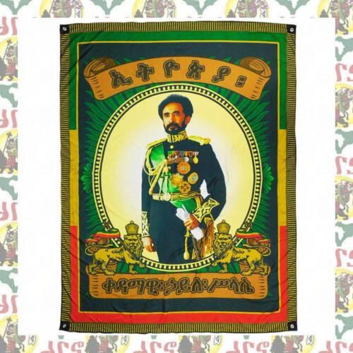 Ethiopian King  [drs] Flag Banner (200cmx150cm)  Haile Selassie I Lion of Judah