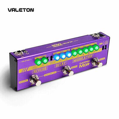 Valeton Guitar Multi Effects Pedal with Reverb Delay Chorus Phaser EU Plug