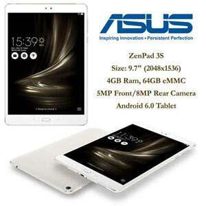 NEW Asus ZenPad 3S 10 9.7 (2048x1536), 4GB Ram, 64GB eMMC, 5MP Front/8MP Rear Camera, Android 6.0 Tablet, Silver (Z5...