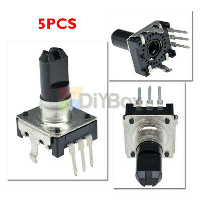 5pcs Dc 5v 10ma Rotary Encoder Ec12 Audio Digital Potentiometer 15mm Handle