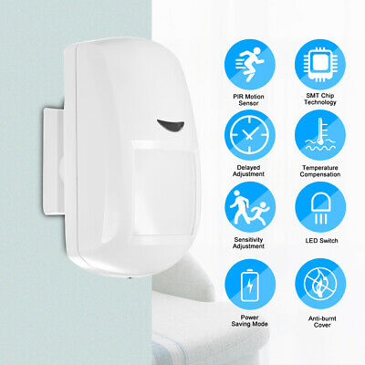 433MHz Wireless PIR Motion Sensor Passive Infrared Detector Home Security Alarm