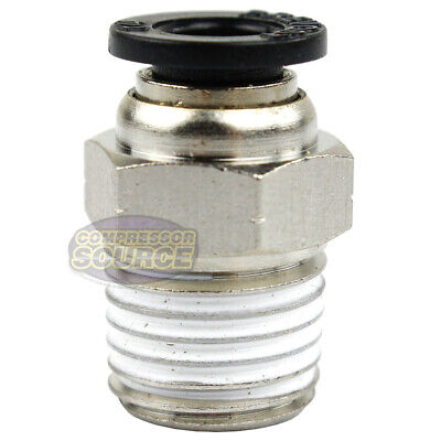 One 14 Male Npt X 14 Od Tube Female Push In To Lock Connect Fitting Straight