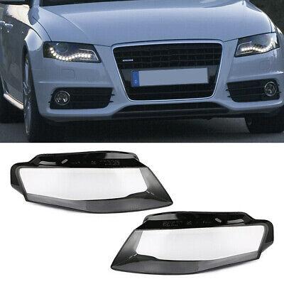 Lens Headlight Cap - Pair Front Kit Cover Lens Headlight Headlamp Lenses Cap Car For Audi A4 09-12 B8