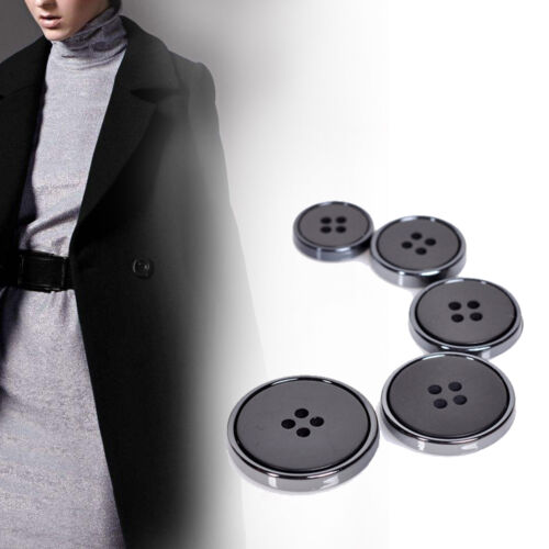 5X Matte Resin Buttons DIY Sewing Craft Suit Coat Jacket Button 4 Hole 15-25mm