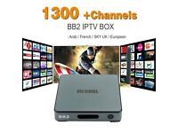 **£135**Android IPTV Box 4k BB2 2GB OCTACORE + 1 Year SUBS VOD/MAG250/MAG254/MAG256/KODI/ARAB/EUROPE