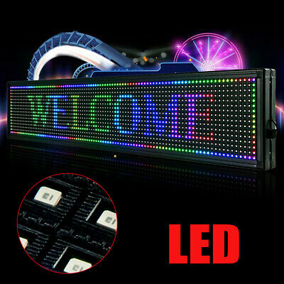 New Led Sign 40x8 Outdoor Scroll Message Board 7 Color Programmable Scrolling