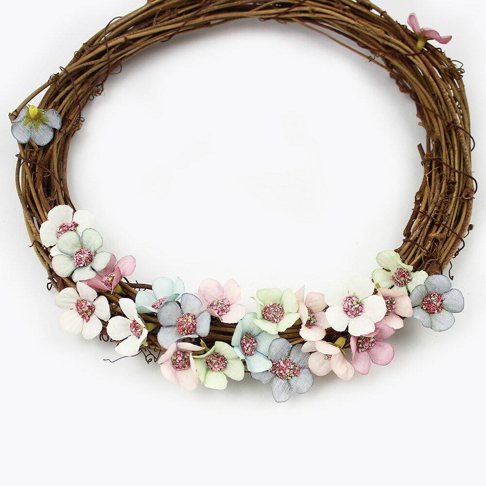 50pcs Multicolor Daisy Flower Heads Mini Silk Artificial Flowers Wreath Ring hi