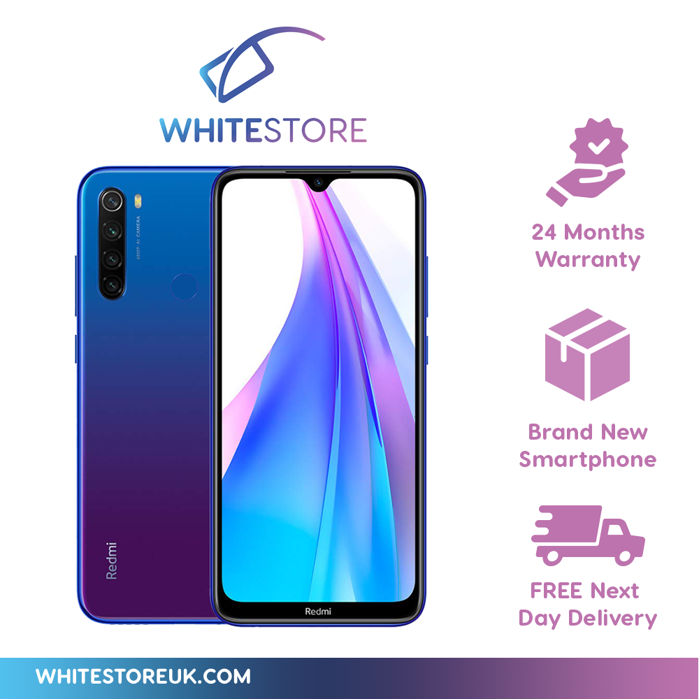 """Android Phone - New Xiaomi Redmi Note 8T 6.3"""" 4GB 64GB Unlocked Phone Octa Core Android 9 Blue"""