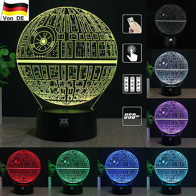 Death Star Wars 3D LED Tischleuchte Tischlampe Nachttischlampe Leselampe Leuchte