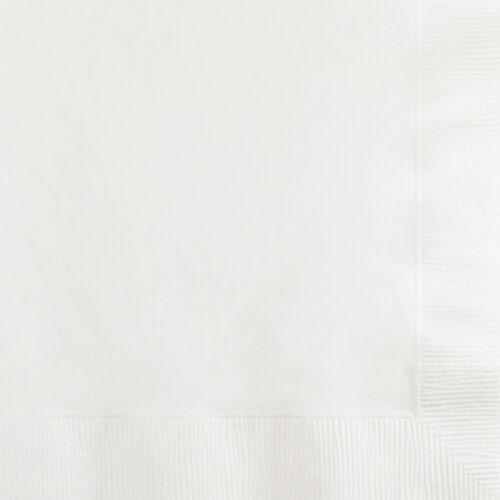 Bulk White Cocktail Beverage Napkins, 600 ct