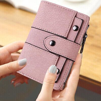Leather Wallet for Women Ladies Credit Card Holder Bifold Purse Clutch Handbag