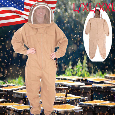 Large Beekeeping Bee Keeping Suit Jacket Pull Over Smock With Veil Lxlxxl