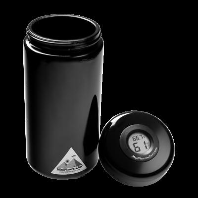 Mypharmjar Miron Glass Curing Jar 1 Liter w/digital humidity