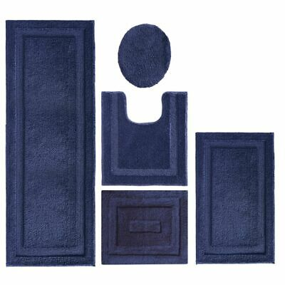 mDesign Contour, Toilet Seat Cover, and Bathroom Mat Combo P