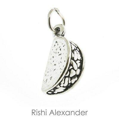 925 Sterling Silver Taco Charm Made in USA