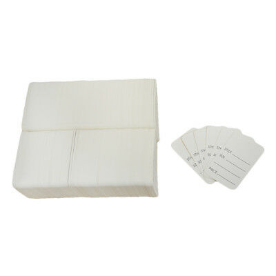 1000 Pcs Large White Merchandise Tags Price Jewelry Garment Store Paper Card
