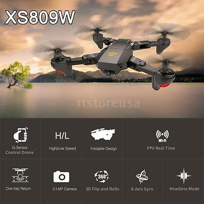 VISUO XS809W RC Quadcopter Wifi 0.3MP Camera Foldable 2.4G 6-Axis Drone Toys