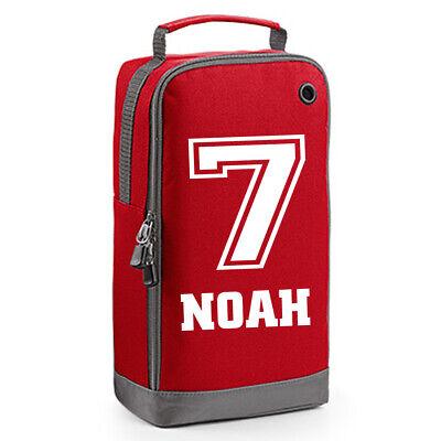 Personalised Boys Girls Football Boot Bag Gym Rugby bag PE Hockey Name & Number