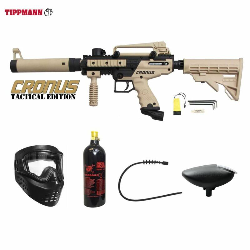 Tippmann Maddog Cronus Tactical Bronze Paintball Gun Marker Package Tan