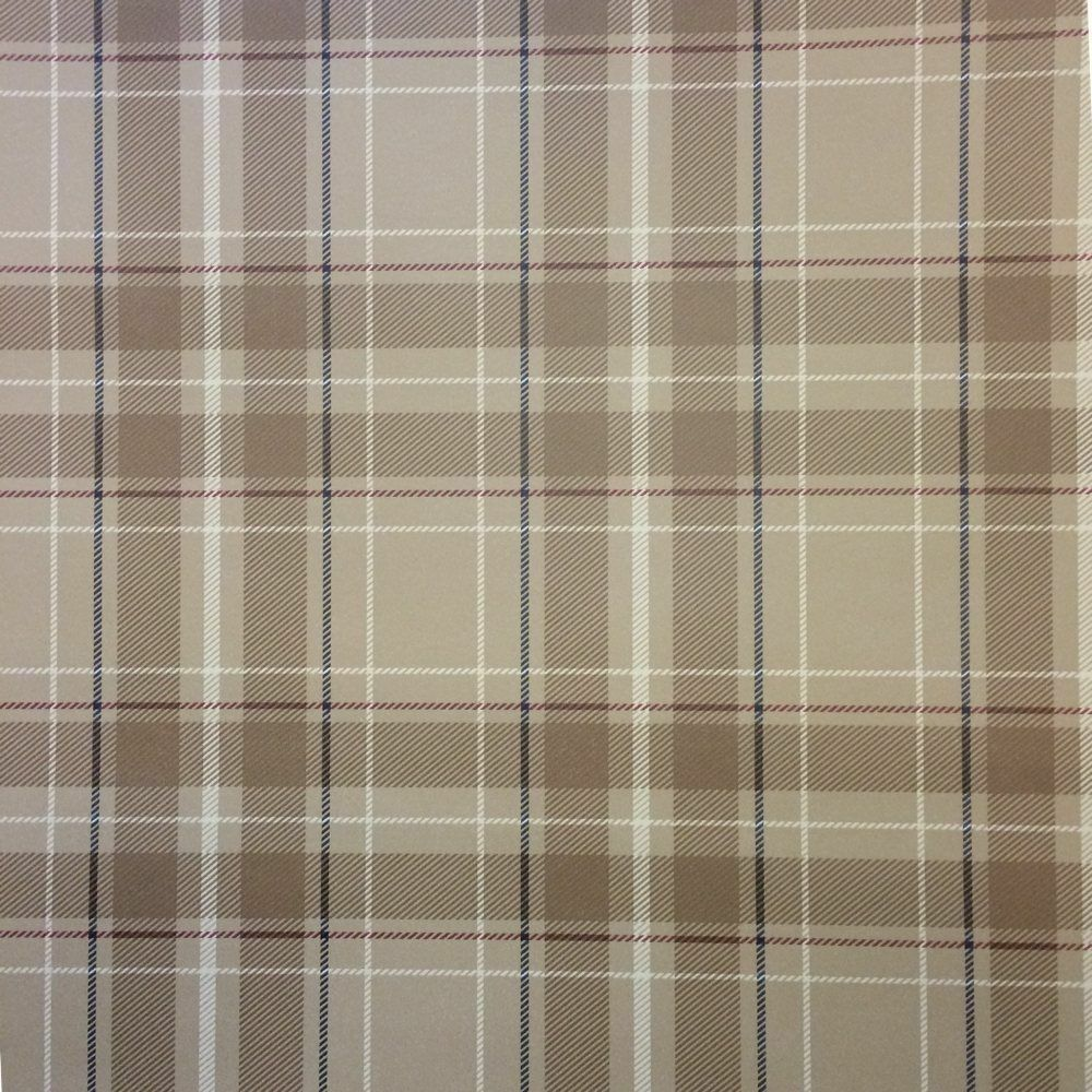 Brown Plaid Wallpaper: Fine Decor- Caledonia Tartan Tan