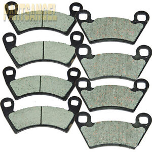 Fr+R Brake Pads For Polaris RZR XP 900 EFI 2011-2013 / RZR 900 2014 Severe Duty