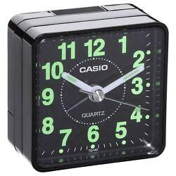 Casio TQ140-1 Black Travel Quartz Beep Alarm Clock New