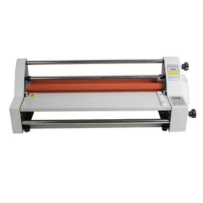 17 110v Roll Laminator Speed Adjustable Four Roller Hotcold Laminating Machine