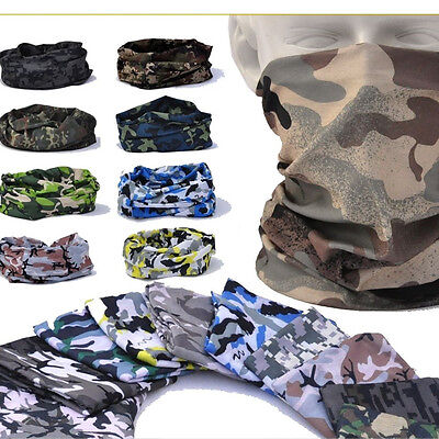 Multi Function Neck - Winter Multi-Function Camo Scarf Face Mask Tube Bandana Neck Snood Headwear