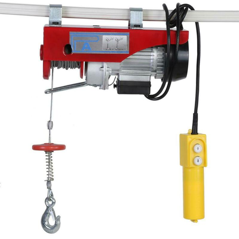 440 Lb 110V Electric Cable Hoist Crane Lift Garage Auto Shop Winch with Remote
