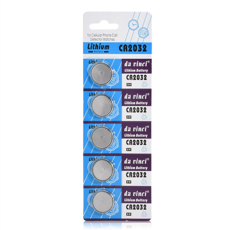 NEW Lots 5PCS CR2032 3V Button Cell Coin Battery for Watch Toys Remote