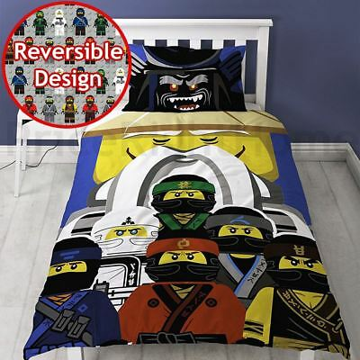 LEGO NINJAGO MOVIE GURU SINGLE DUVET COVER SET REVERSIBLE KIDS BOYS