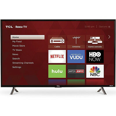 TCL 40-Inch Full HD 1080p 120Hz Roku Smart LED TV/3x HDMI (2017 Model) | 40S305