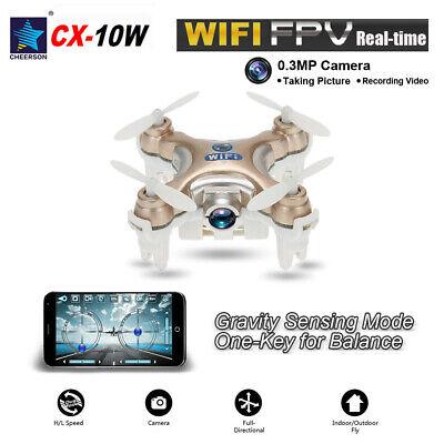 Cheerson Mini Drone HD Camera Wifi CX-10W 2.4Ghz Gyro RC Quadcopter Model N2L3